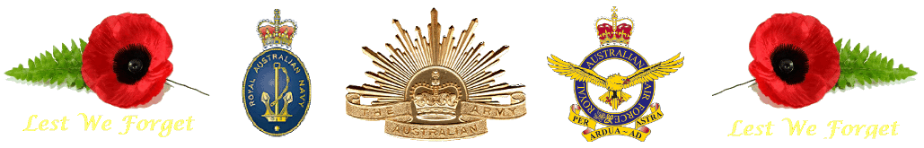 Autralian Military Badges and Remeberance Popy.